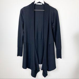 Zara Knit Drape Cardigan Waterfall Knee Length Sweater